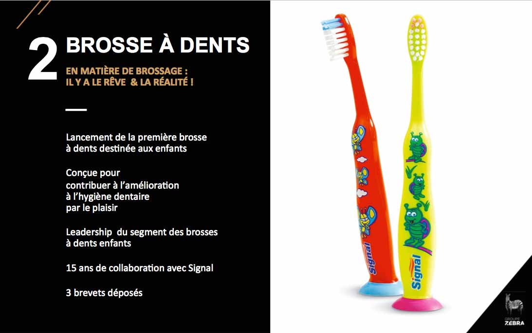 Brosse à dents à ventouse Signal, exemple d'innovation et design