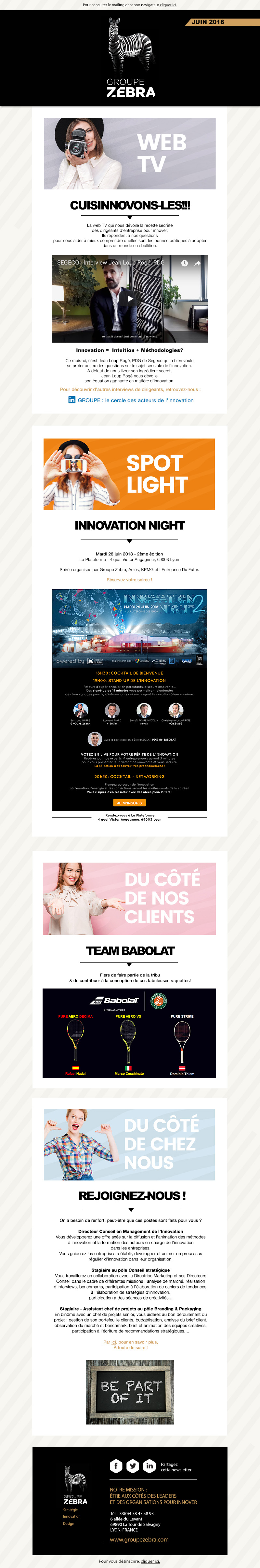 Newsletter GROUPE ZEBRA